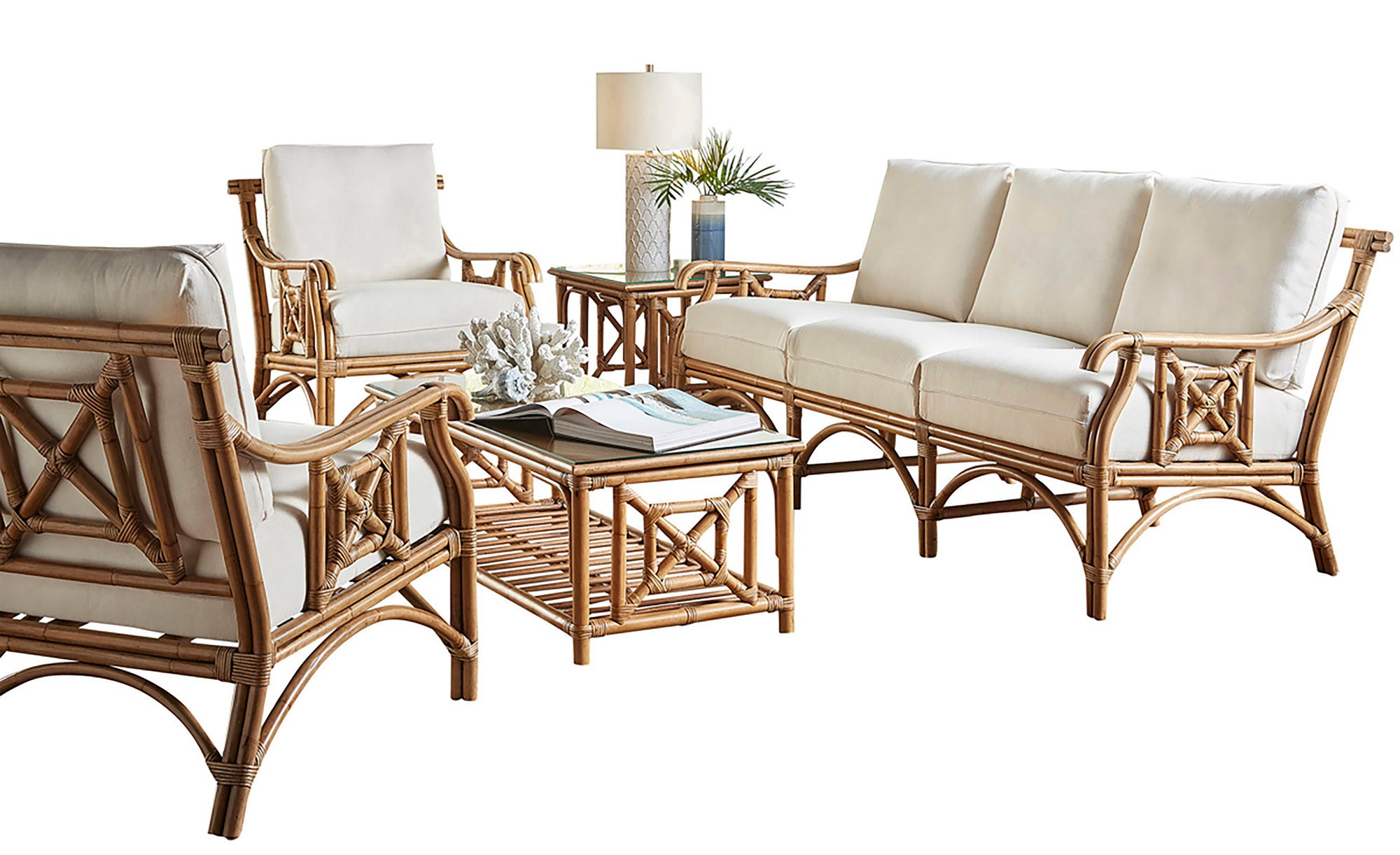 Panama Jack Sunroom Plantation Bay 5 Pc Living Set With