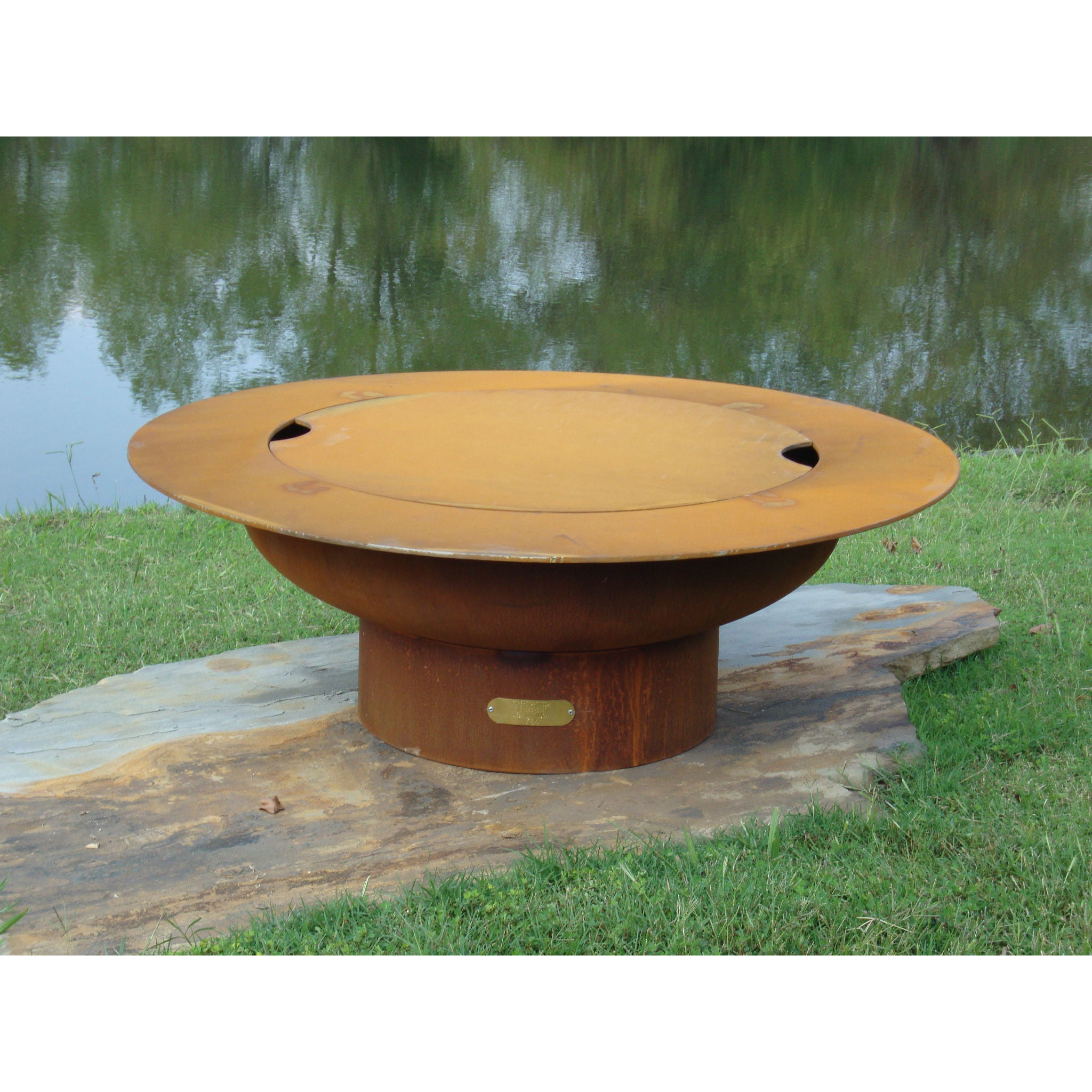 fire pit art saturn with lid wood burning fire pit sat lid