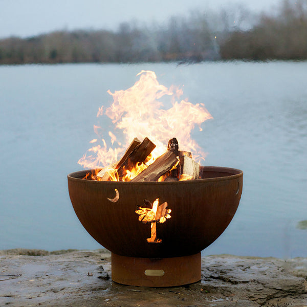 Fire Pit Tropical Moon Wood Burning Fire Pit Tm