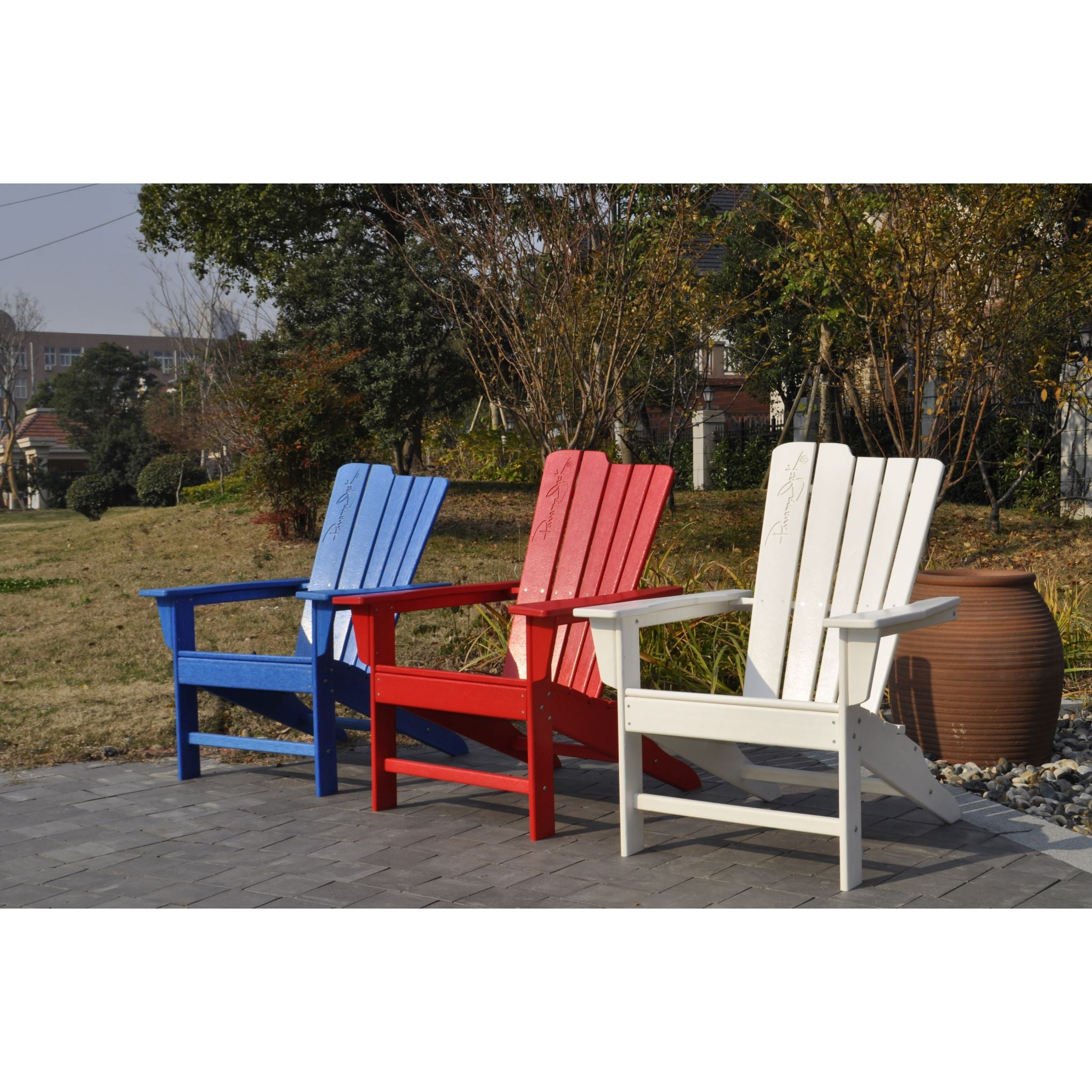 panama jack white outdoor adirondack chair and ottoman set