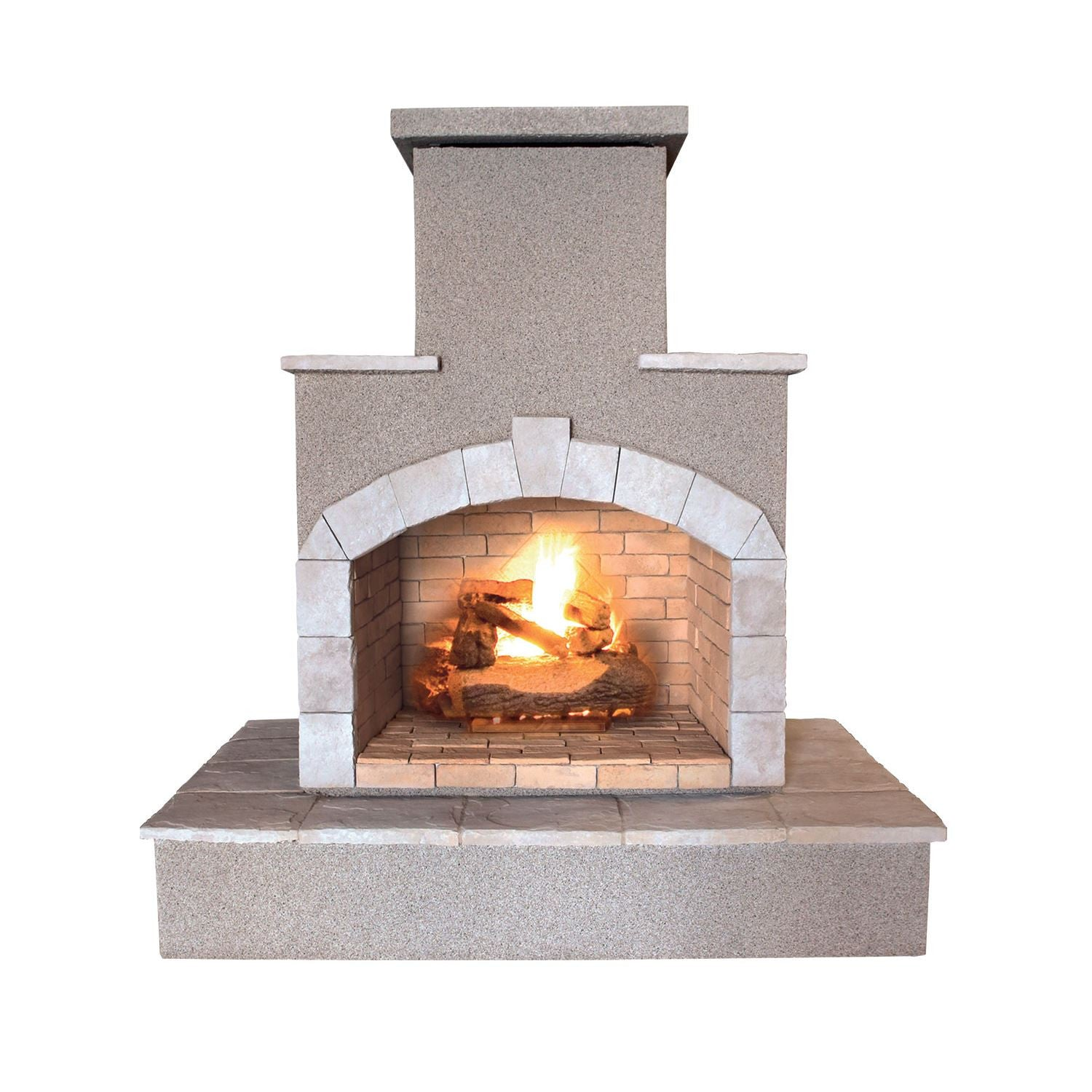 Cal Flame 72 Inch Outdoor Fireplace Frp 908 3