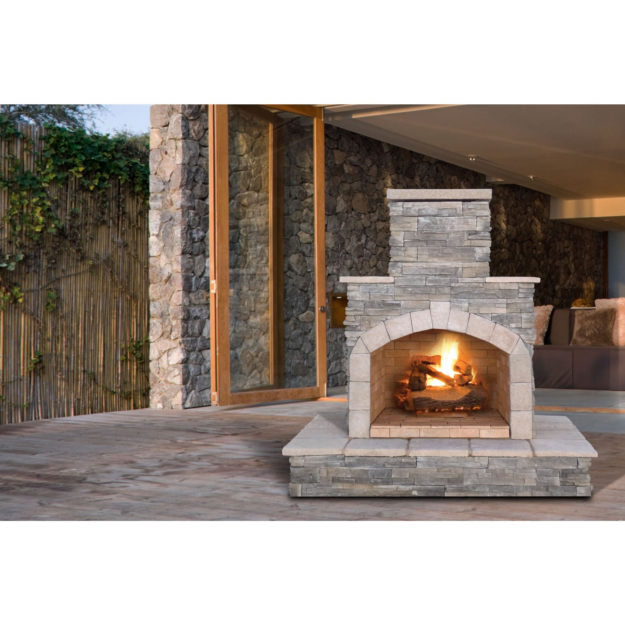 Cal Flame 72 Inch Outdoor Fireplace Frp 908 3 Betterpatio Com
