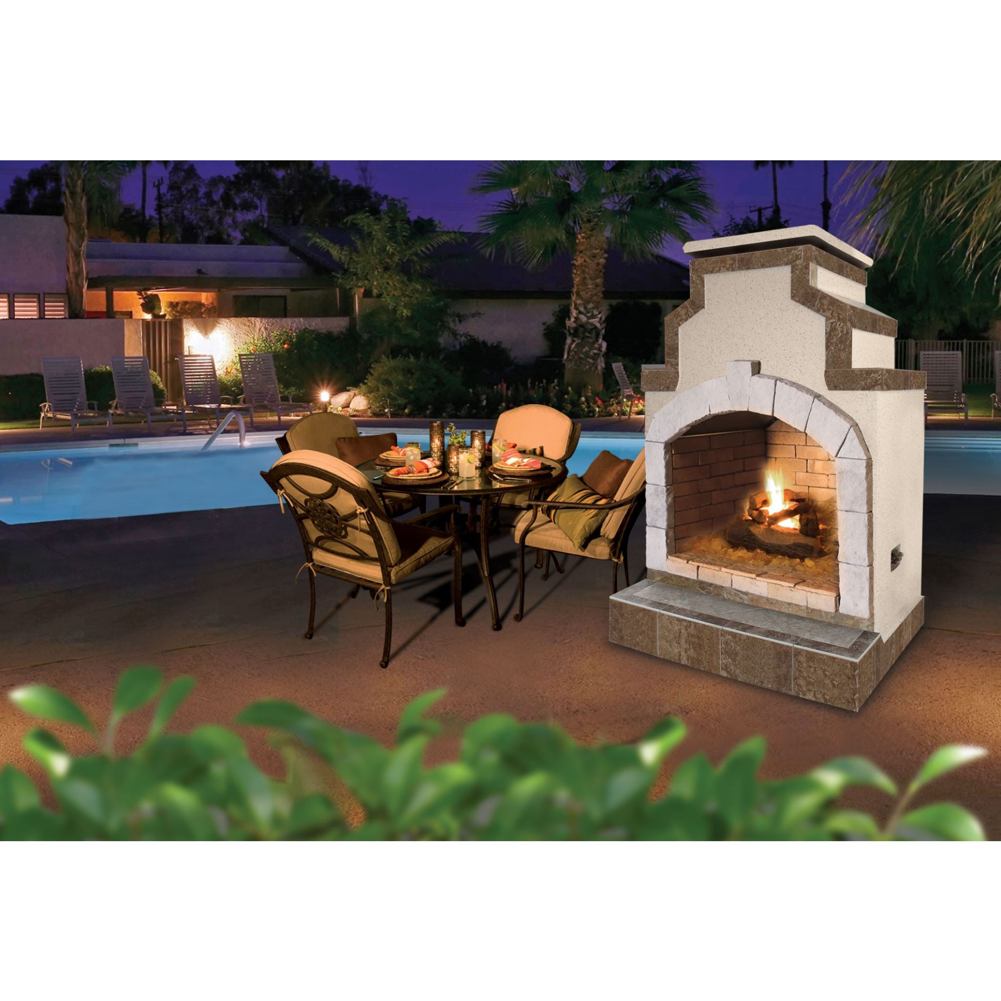Cal Flame 48 Inch Outdoor Fireplace Frp 910 2 Betterpatio Com