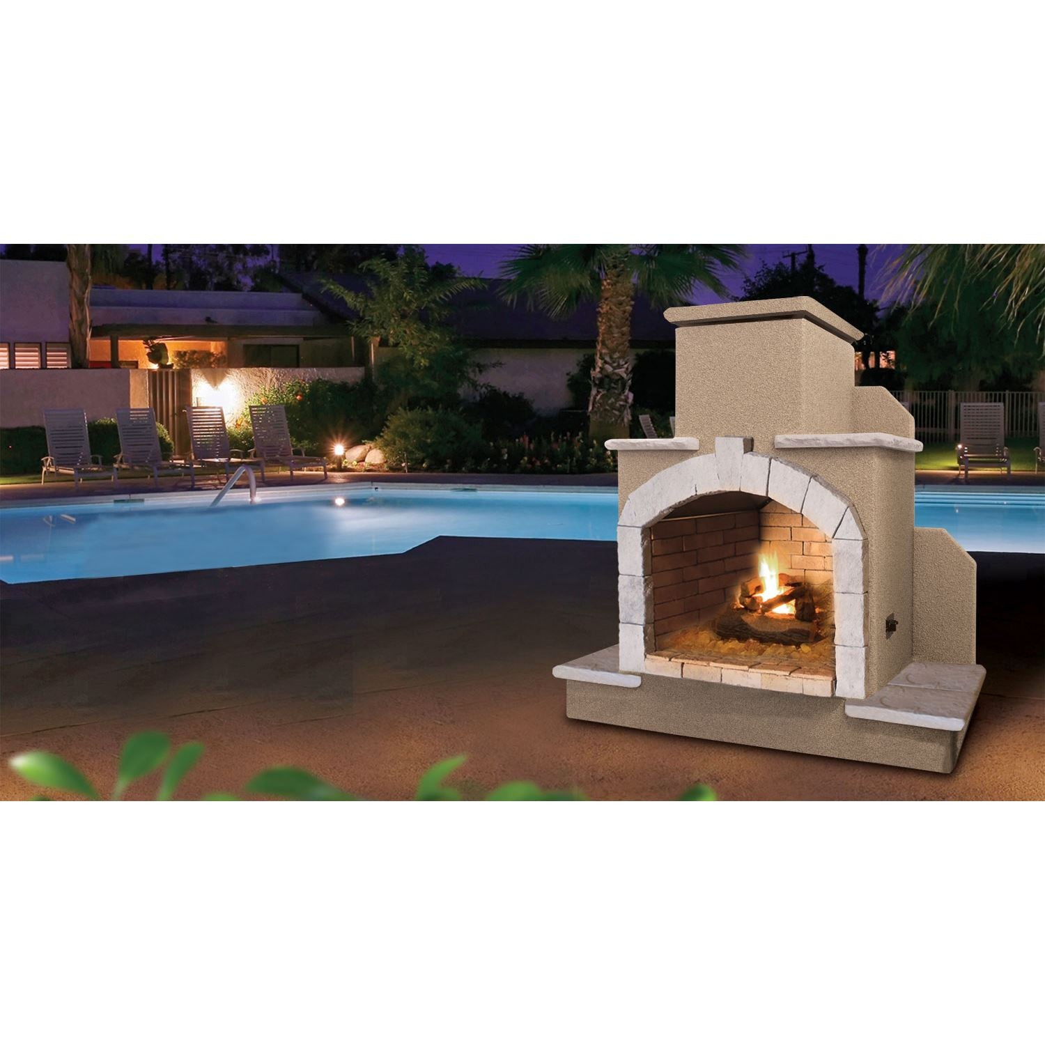 Cal Flame 78 Inch Outdoor Fireplace Frp 915 Betterpatio Com