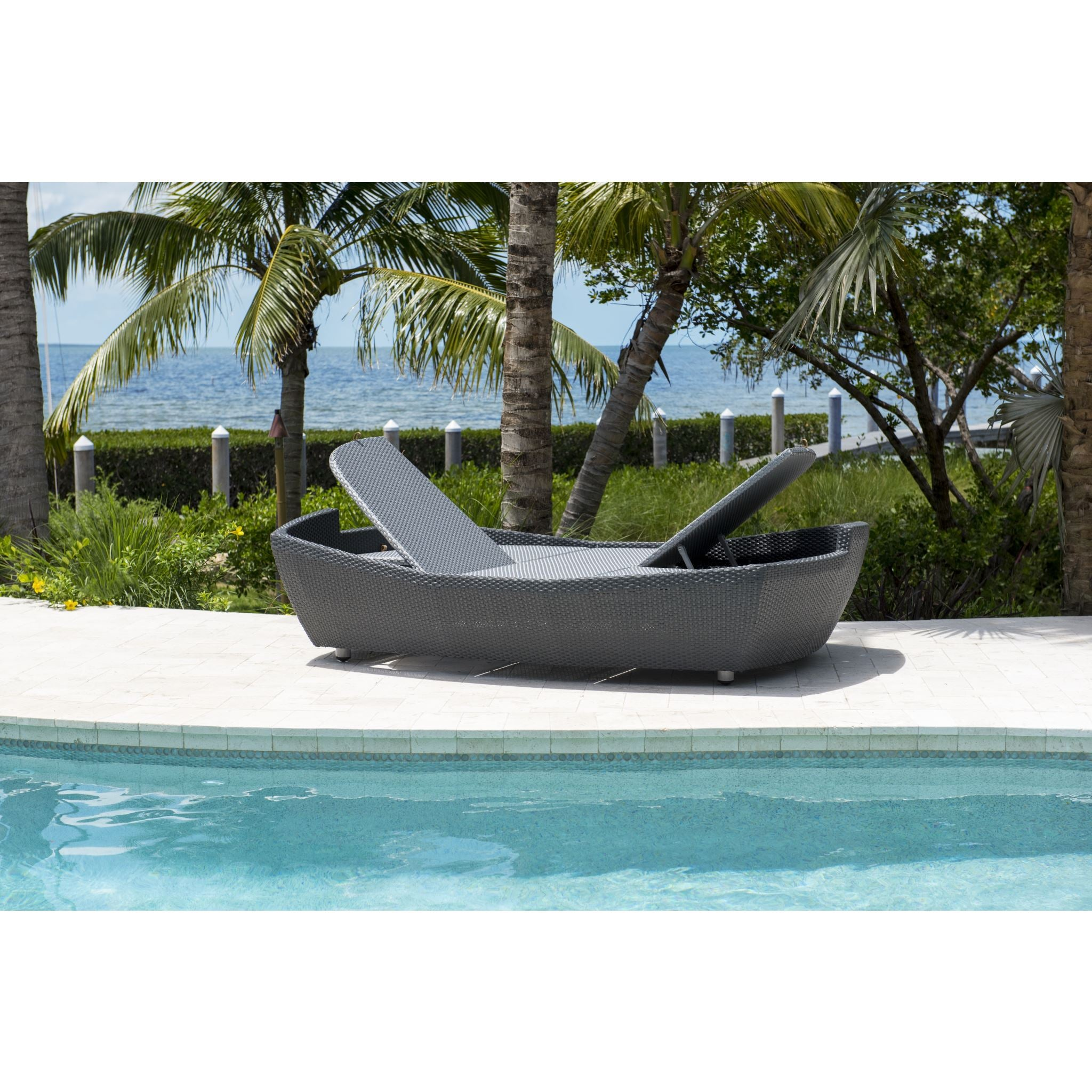 Panama Jack Onyx Double Folding Chaise Lounger PJO-1901-BLK-DL ...