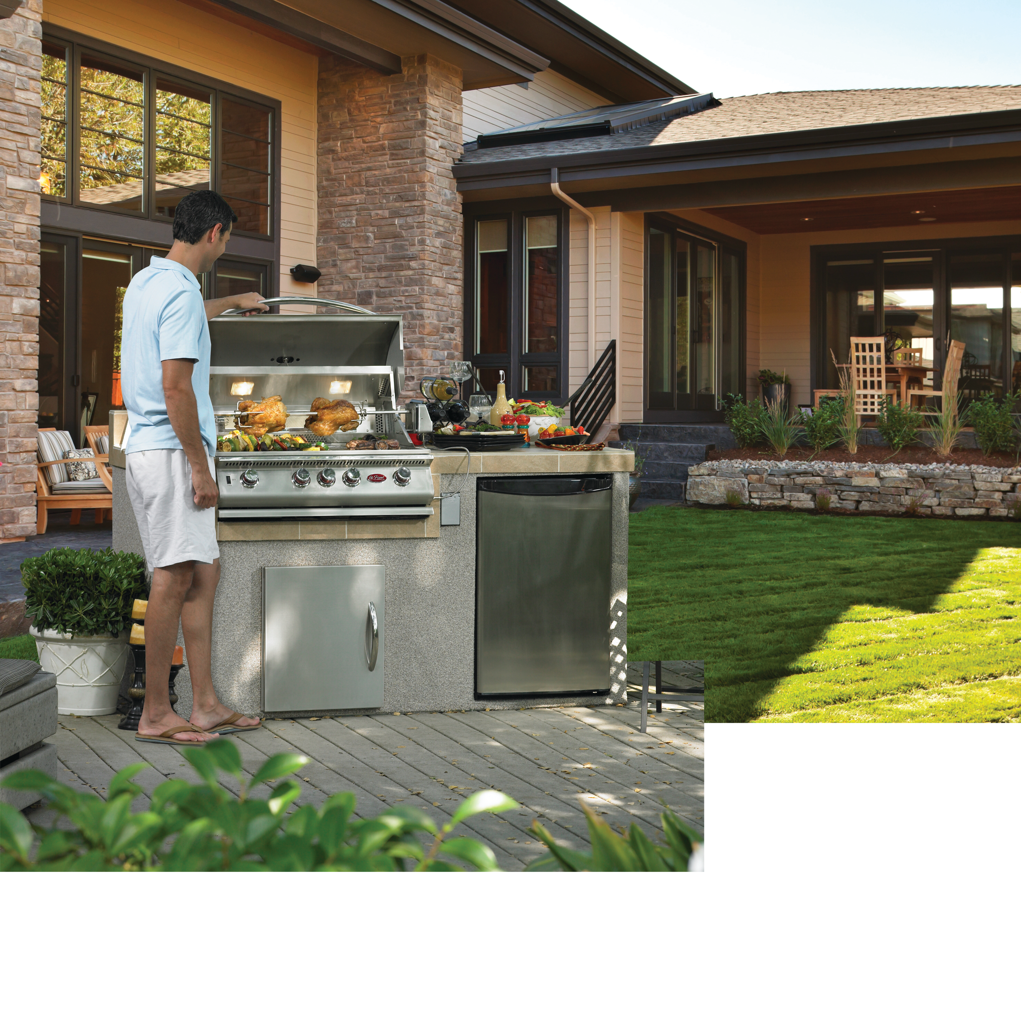 Cal Flame Built-In 4 Burner Convection Grill BBQ13874CP ...