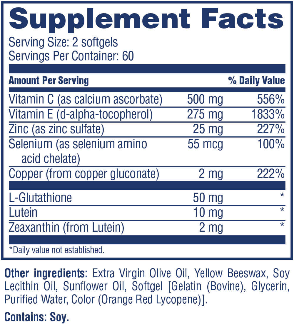 Ingredients and nutritional facts