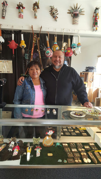With Trinidad Lucas in her shop.  She is a great person and gifted artist.