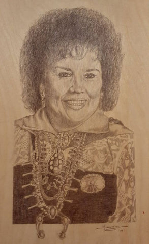Portrait of Tony Sangre's Aunt Veronica