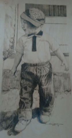 Drawing of Tony Sangre as a young boy