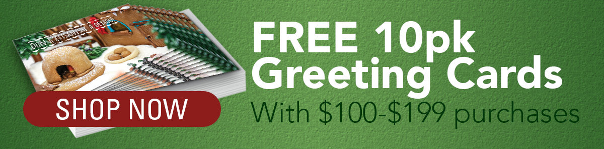 Cyber Weekend Special, free 10 Pack of Pueblo Holiday Greeting Cards with any purchase of $100-199