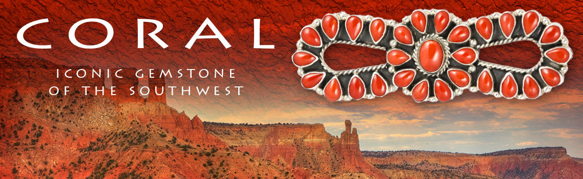 Certified Authentic Native American Coral Jewelry Collection