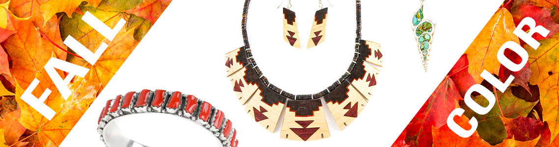 Native Jewelry in Fall Colors