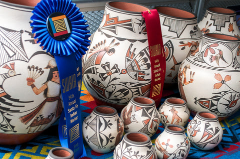 Award Winning Pottery by Elizabeth and Marcellus Medina (Zia) >