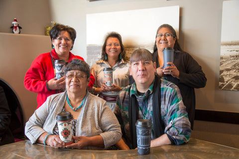 Pueblo Potters who designed the Starbucks coffee mugs