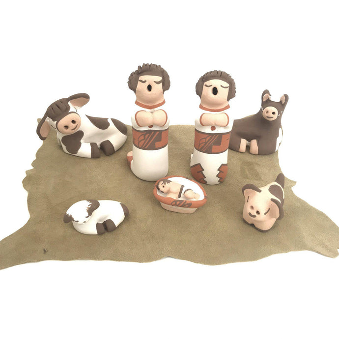 Mona Teller Isleta 7pc Nativity Figurine Set-Indian Pueblo Store