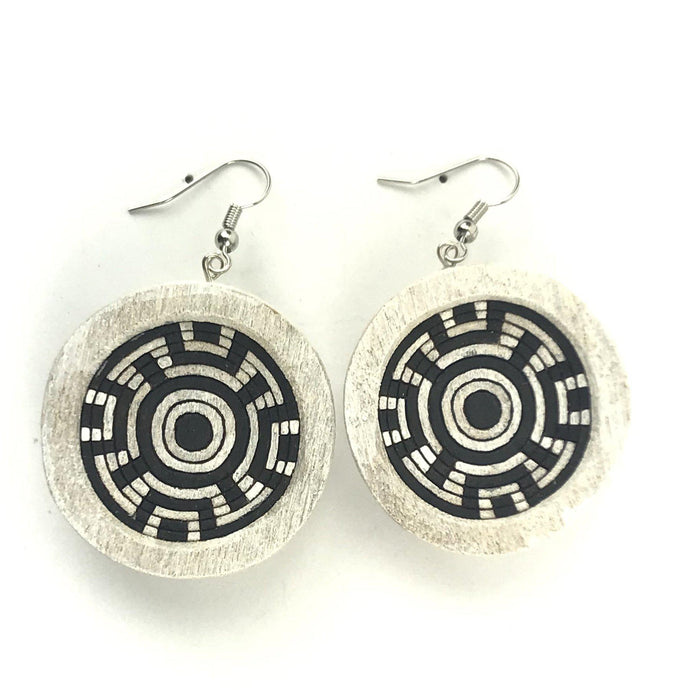 Elmer Yungotsuna Cottonwood Apache Basket Earrings-Indian Pueblo Store