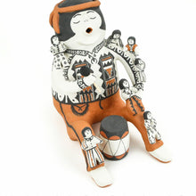 Load image into Gallery viewer, Martha Arquero  Large Traditional Cochiti Storyteller with Seven Children and A Drum - Shumakolowa Native Arts