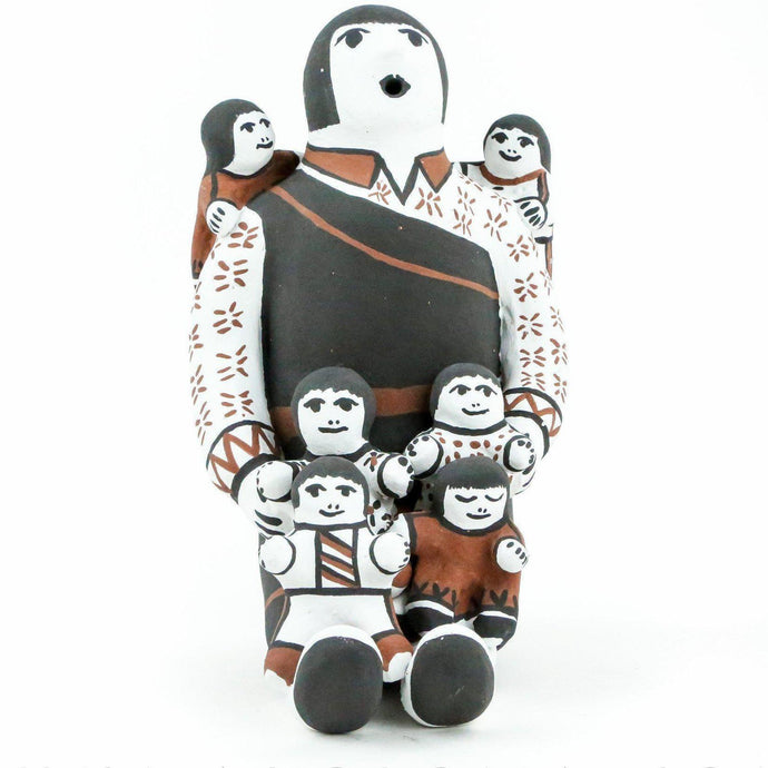 Elizabeth H. Trujillo Cochiti Storyteller with Six Children - Shumakolowa Native Arts