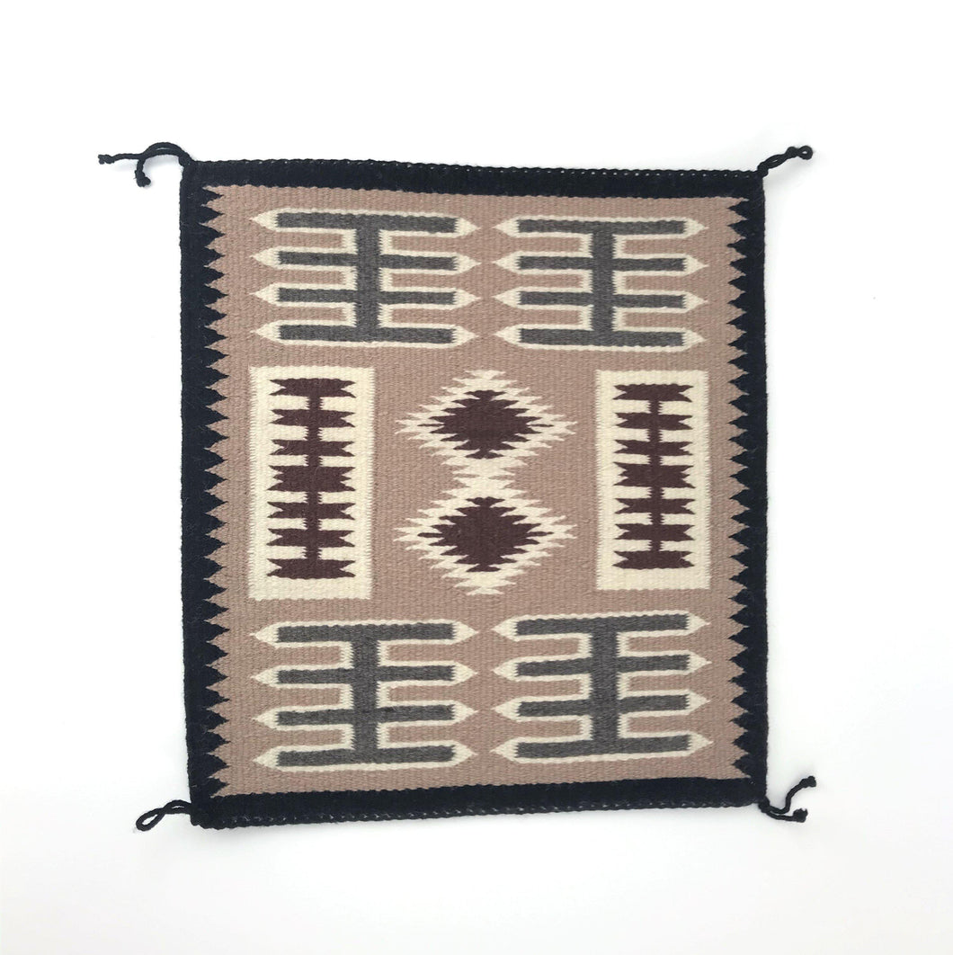 Lucinda Tallbrother Storm Pattern Navajo Rug-Indian Pueblo Store