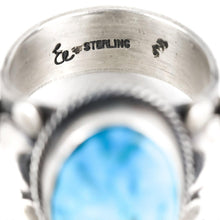 Load image into Gallery viewer, Sterling Silver Kingman Turquoise Ring - Shumakolowa Native Arts