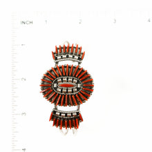 Load image into Gallery viewer, Coral Needlepoint Cluster Bracelet - Shumakolowa Native Arts