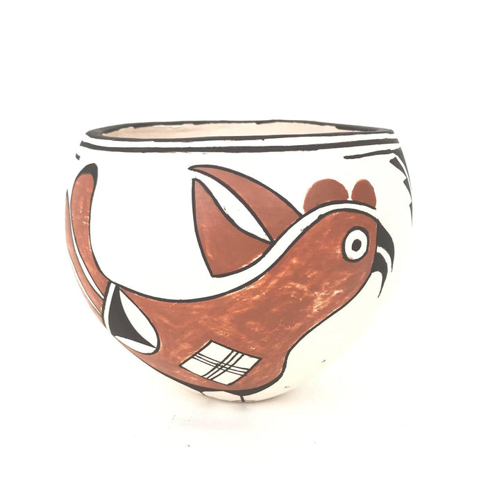 Claudia Mitchell Acoma Parrot Bowl-Indian Pueblo Store