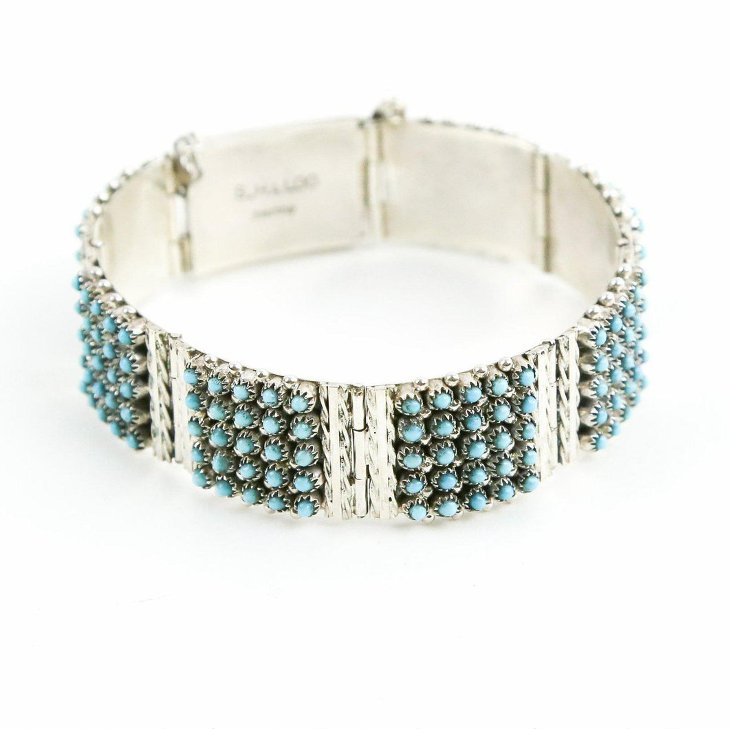 Turquoise Petit Point Dot Bracelet - Shumakolowa Native Arts