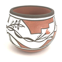Load image into Gallery viewer, Rachel Medina Ration Santa Ana Small Flower Bowl-Indian Pueblo Store