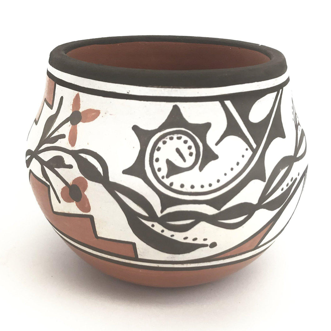 Rachel Medina Ration Santa Ana Small Flower Bowl-Indian Pueblo Store