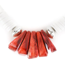 Load image into Gallery viewer, Kevin Ray Garcia Santo Domingo Red Spiny Oyster Shell Heishi Necklace - Shumakolowa Native Arts