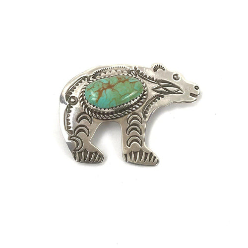 Turquoise Bear Pin/Pendant-Indian Pueblo Store
