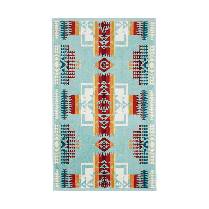 Pendleton Aqua Chief Joseph Hand Towel - Shumakolowa Native Arts