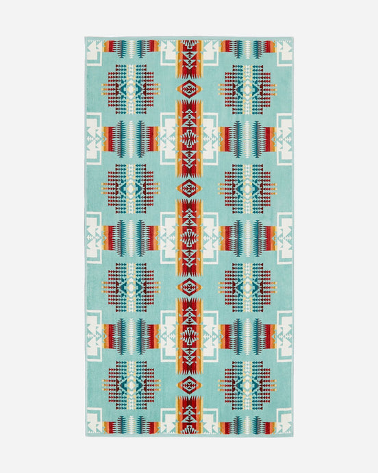 Pendleton Aqua Chief Joseph Bath Towel - Shumakolowa Native Arts