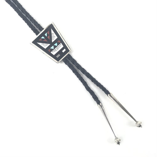 Leander and Lisa Othole Multi-Gemstone Inlay Bolo Tie-Indian Pueblo Store