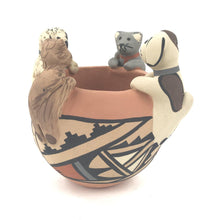Load image into Gallery viewer, Chrislyn Fragua Jemez Animal Friendship Bowl-Indian Pueblo Store