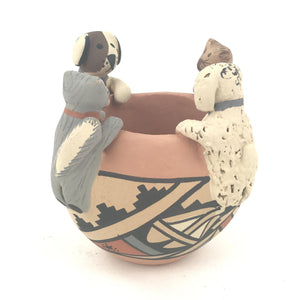 Chrislyn Fragua Jemez Animal Friendship Bowl-Indian Pueblo Store