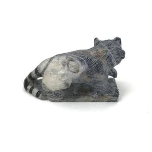 Derrick Kaamasee Picasso Marble Raccoon Fetish Carving-Indian Pueblo Store