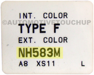 Honda – Inside driver's door jamb. Starts with a NH, YR, or B. Usually has a sticker just for the Paint code.