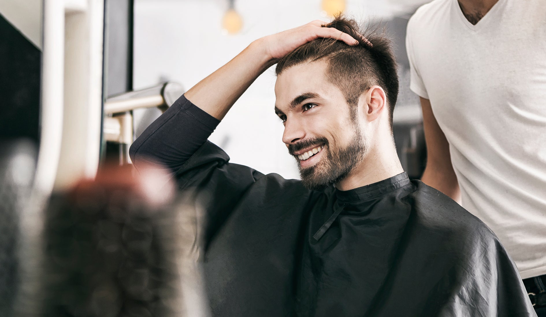 happy client after a haircut