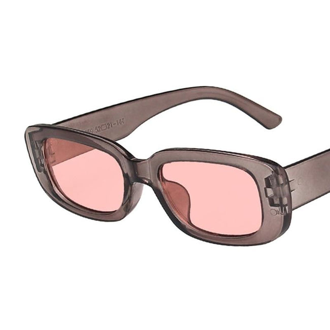Small Rectangle Vintage Sunglasses for Women