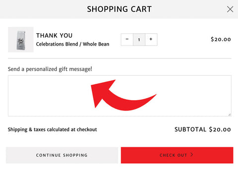 Upload Gift Message Instructions