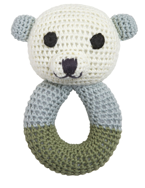 Baby Rattle Sally Polar Bear