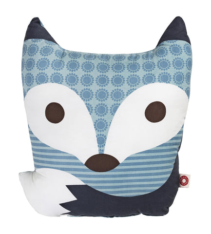 Rufus Blue Fox Cushion Pillow
