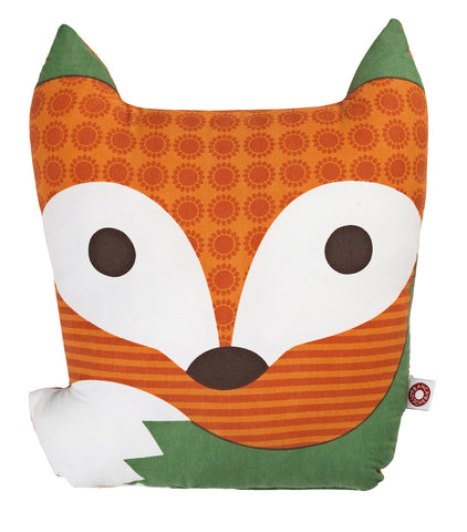 Rufus Orange Fox Cushion Pillow