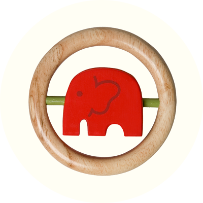 Franck & Fischer Africa Red turning elephant
