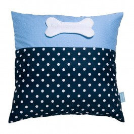 Franck & Fischer Boje blue/grey bone cushion