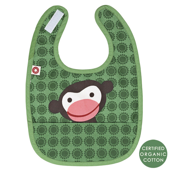 Eat Green Monkey Bib