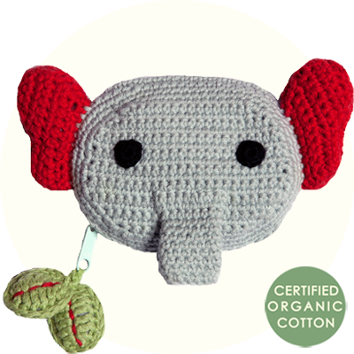 Franck & Fischer Elias elephant crochet purse