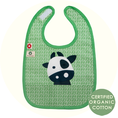 Franck & Fischer Food Bib green cow